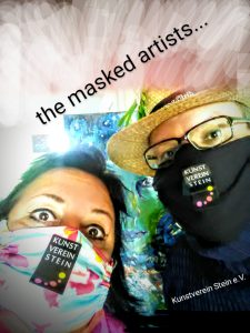The masked artists